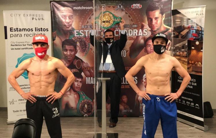 'Gallo' Estrada y Cuadras pasan el pesaje previo a su pelea de título mundial