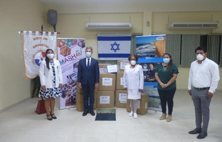 Embajada de Israel hace donación de insumos médicos a enfermeras