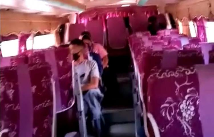 Bus del ruta Panamá- Darién está retenido en Pacora