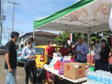 Recolectan donaciones para familias damnificadas