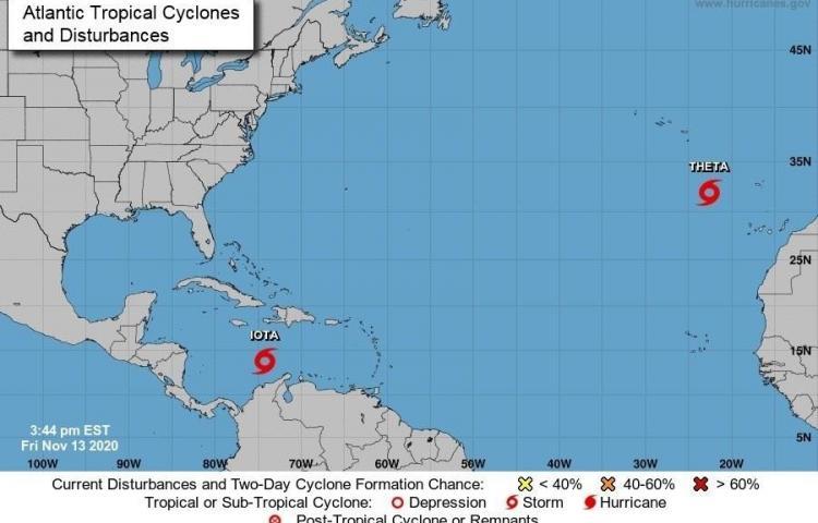 La tormenta Iota producirá lluvias enPanamá