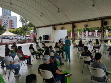 Voluntarios se capacitan para estudio de seroprevalencia de SARS-CoV-2 en Panamá