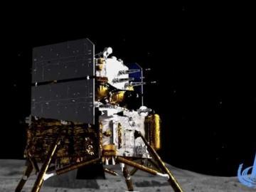Nave espacial Chang'e-5 de China aterriza en la Luna