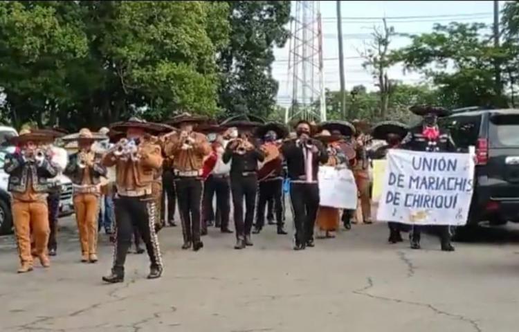 Mariachis protestan en Chiriquí