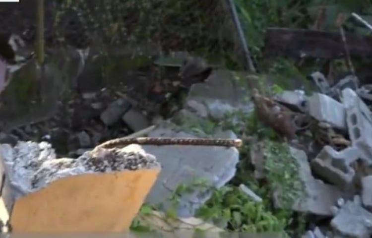 Desplome de vivienda sorprende a familia en Cerro Batea