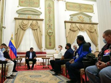 Delegación del PRD se reunió con Nicolás Maduro en Venezuela