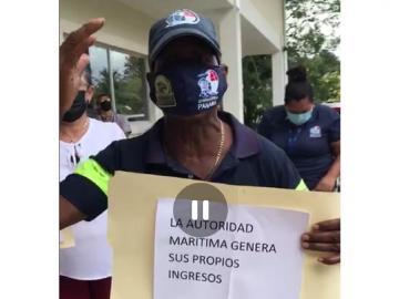 """""""Queremos aguinaldo"""", corean los trabajadores de la Autoridad Marítima de Panamá"""