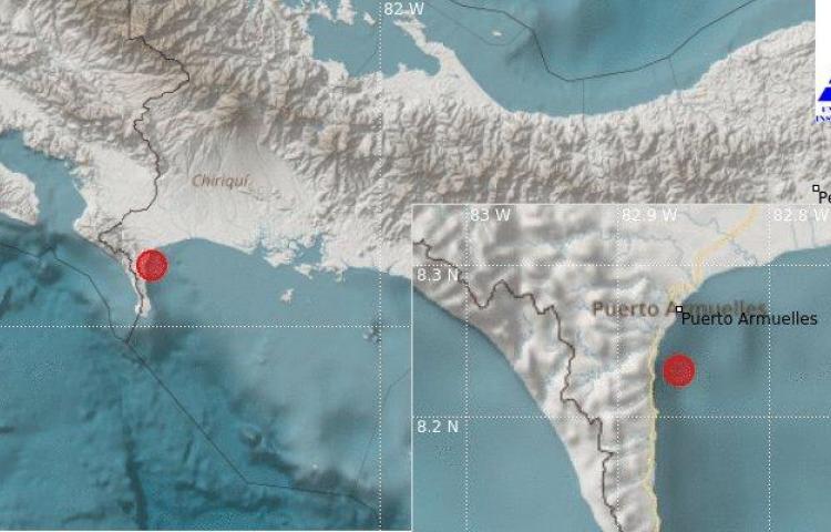 Se registró sismo de 5.5 la noche de este lunes en Chiriquí