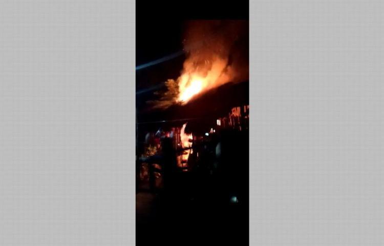 Incendio en la comarca, una familia afectada