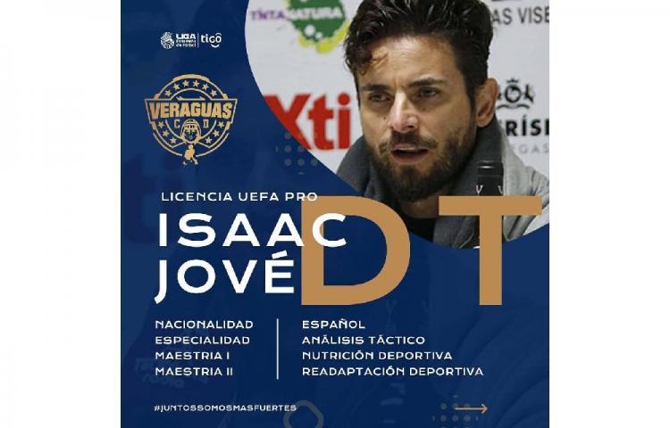 Técnico español Isaac Jové dirigirá al Veraguas CD en el fútbol panameño