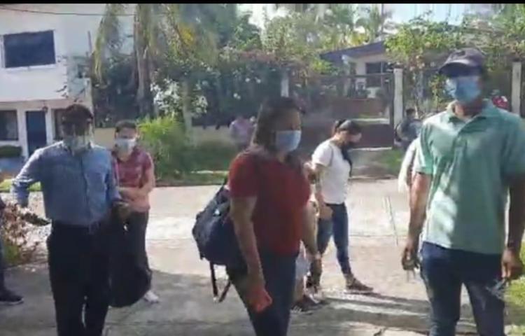 Nicas protestan en la embajada de Nicaragua en Panamá