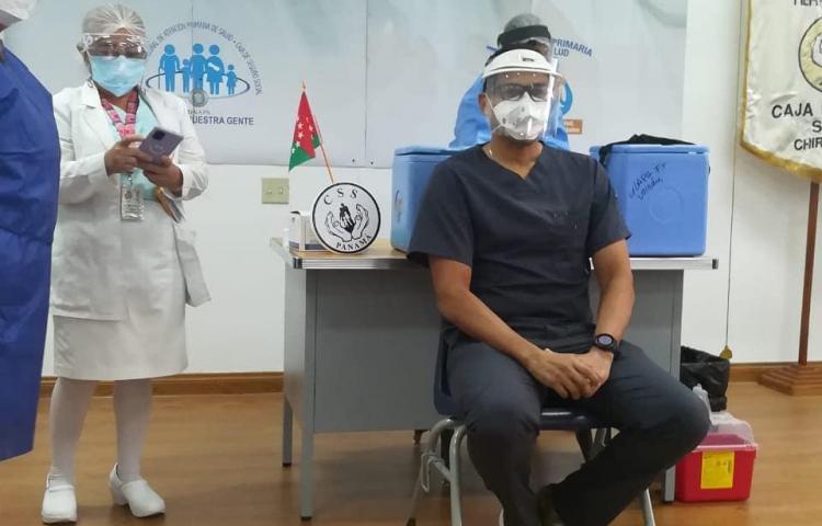Enfermera e internista, los primeros en recibir la vacuna contra la covid-19 en Chiriquí