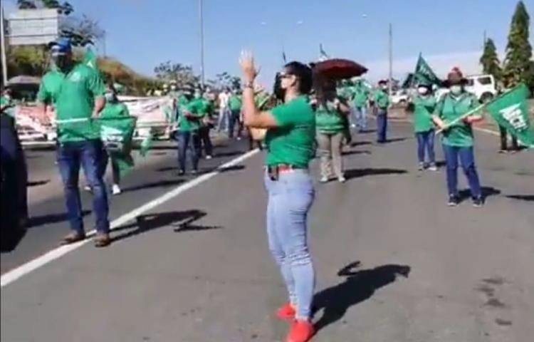Educadores protestan en San Félix, Chiriquí