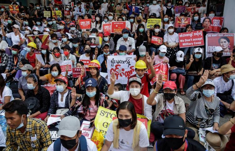 Al menos dos nuevos muertos por la represión de las protestas en Birmania