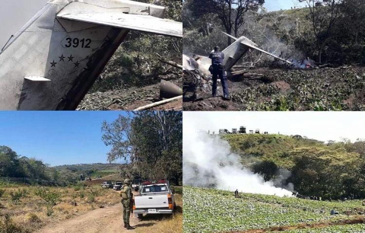 Mueren seis militares en accidente aéreo