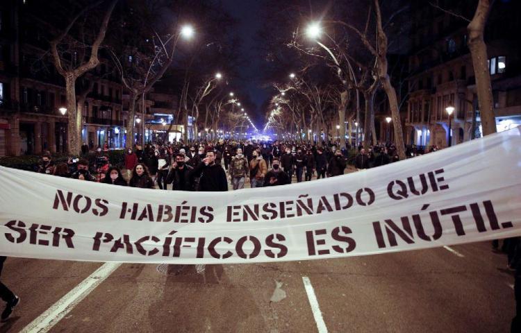 Protestas por encarcelamiento de Pablo Hasel