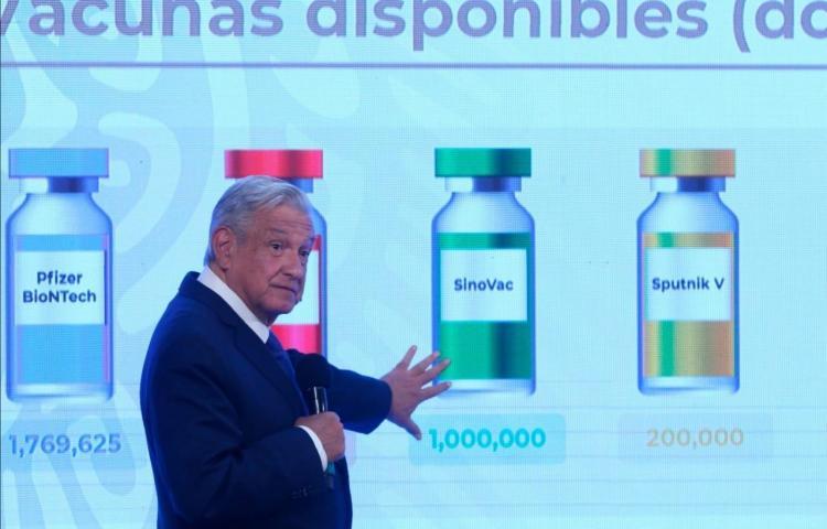 López Obrador pedirá a Biden que EE.UU. abra a México la venta de vacunas