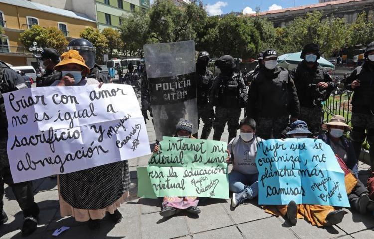 Marchas y protestas ante la persistente violencia de género en Bolivia