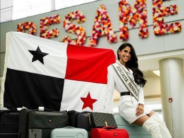 Señorita Panamá viajó con nueve maletas