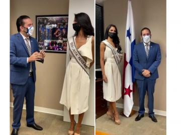 Señorita Panamá visita la embajada del país en Estados Unidos