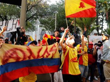 En Colombia las protestas y la pandemia ponen en duda la Copa a solo un mes