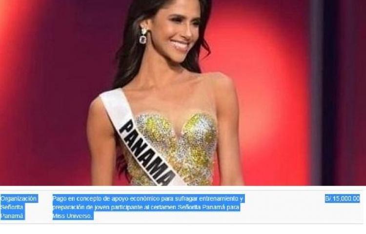 Se gastaron 15 mil de la partida discrecional para Señorita Panamá