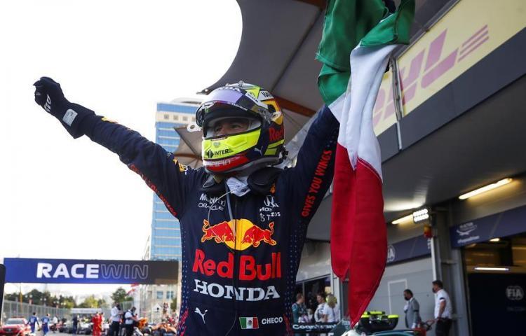 Mexicano 'Checo' Pérez logra el triunfo más loco de la F1, a una sola vuelta