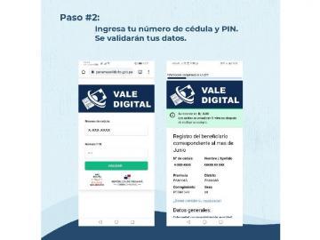 Beneficiarios del vale digital ya pueden actualizar sus datos