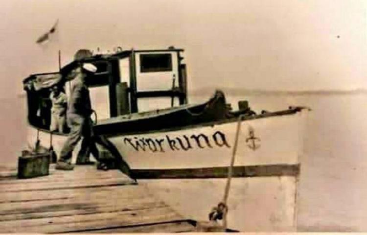 Historia de los barcos en las costas Gunayala
