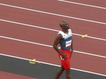 Alonso Edward no pudo clasificar a la final de los 200 metros planos