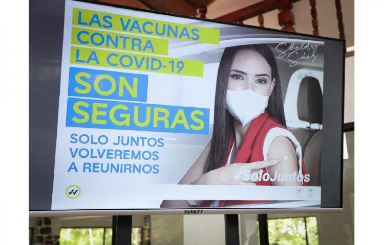 """Promueven la vacunación a través de la campaña """"Solo Juntos"""""""