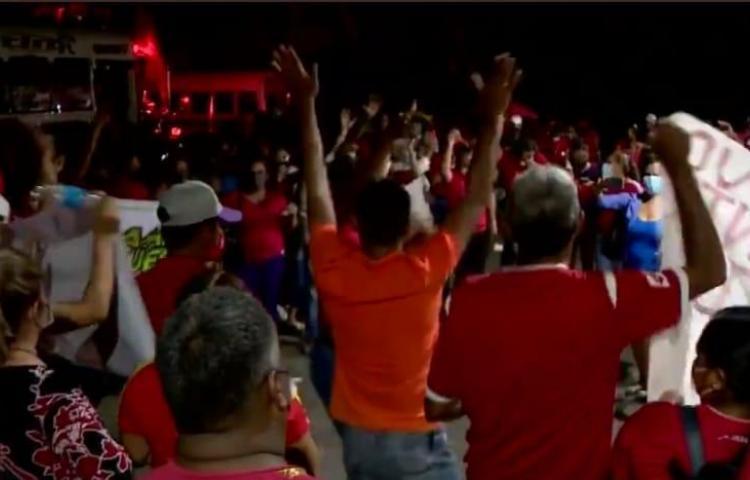 ¡Aglomerados! Se formó un jolgorio en la sede provisional del partido Panameñista