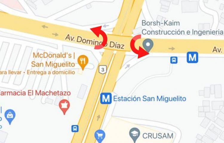 Desde el lunes habilitarán retornos bajo el puente vehicular de San Miguelito