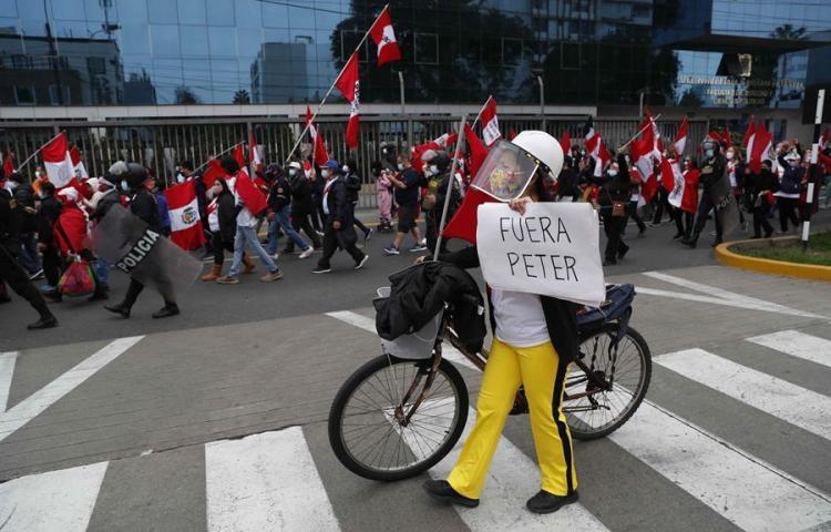 ¡Protestas en Perú! Ya no quieren a Pedro Castillo
