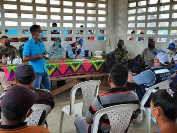 Entregan lista de necesidades a la Defensoría del Pueblo en Bajo Chiquito de Darién