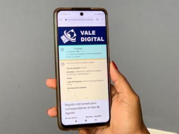 Mañana inicia el desembolso del vale digital