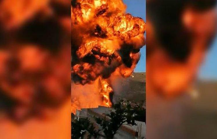 Un incendio seguido de explosiones en Bolivia deja 14 personas heridas