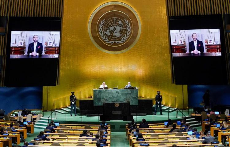 """Bukele dice ante la ONU que el """"mundo es más pesimista y más individualista"""""""